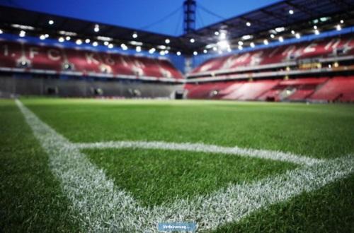 Foto eines Fußballstadions