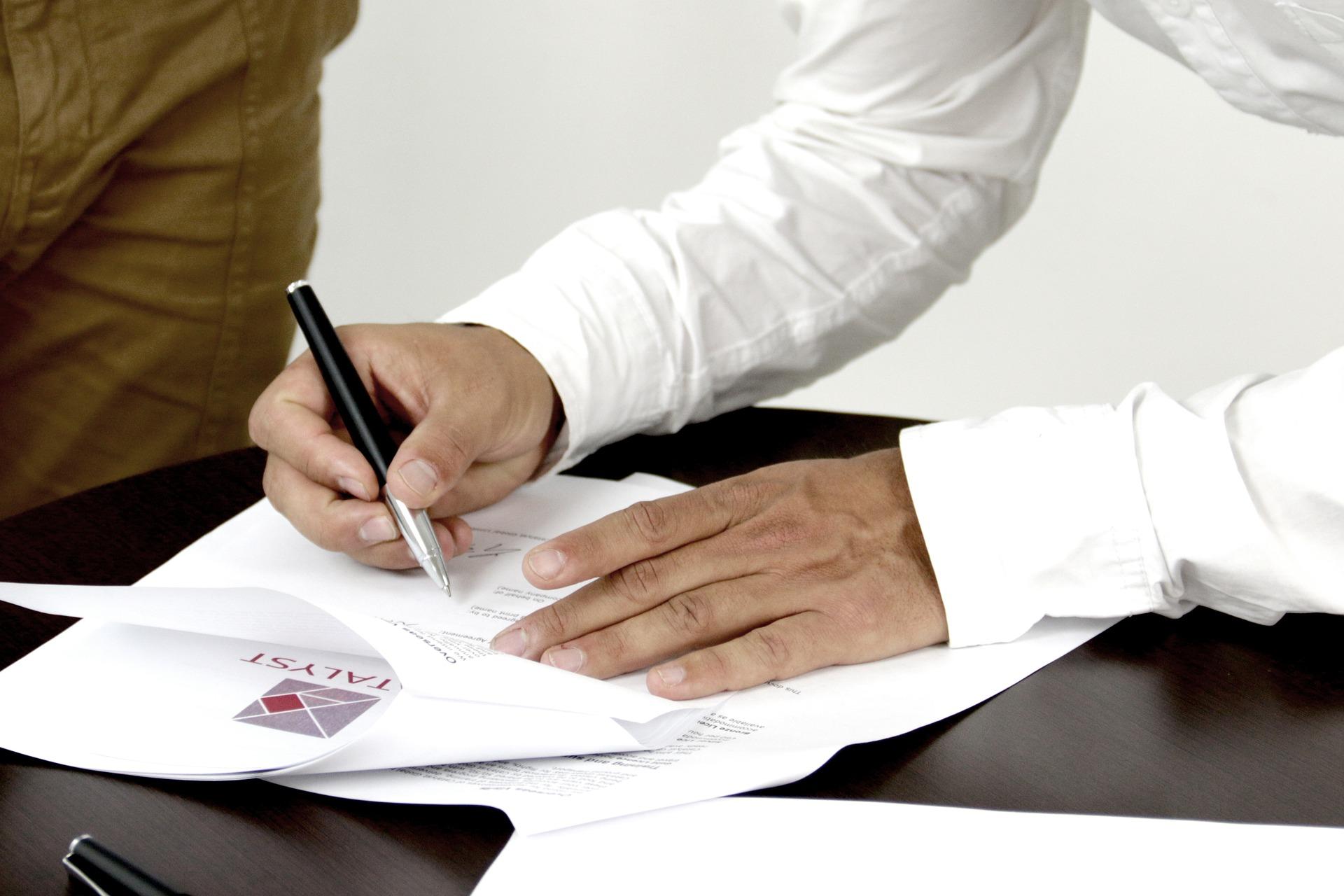 Unterschrift bei Auftragsverarbeitung
